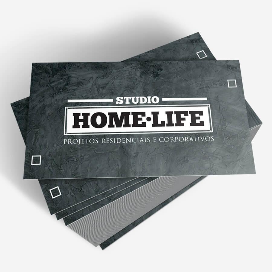 Home Life - verso do cartão de visita