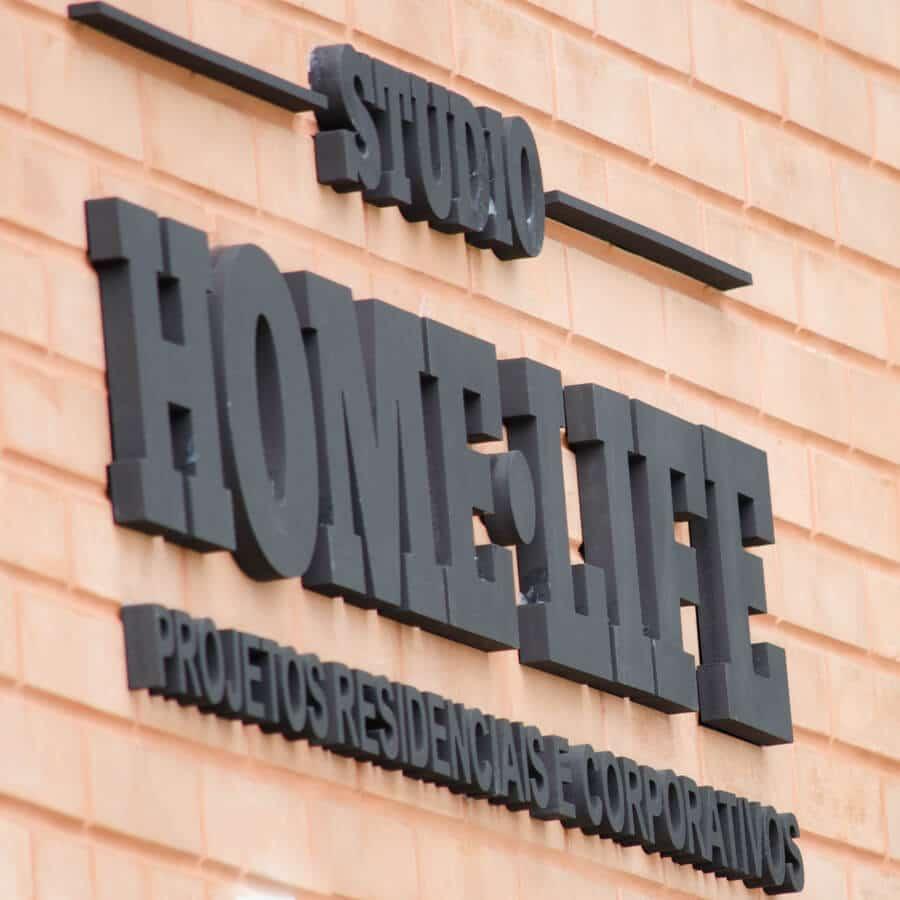 Home Life - logo em letreiro