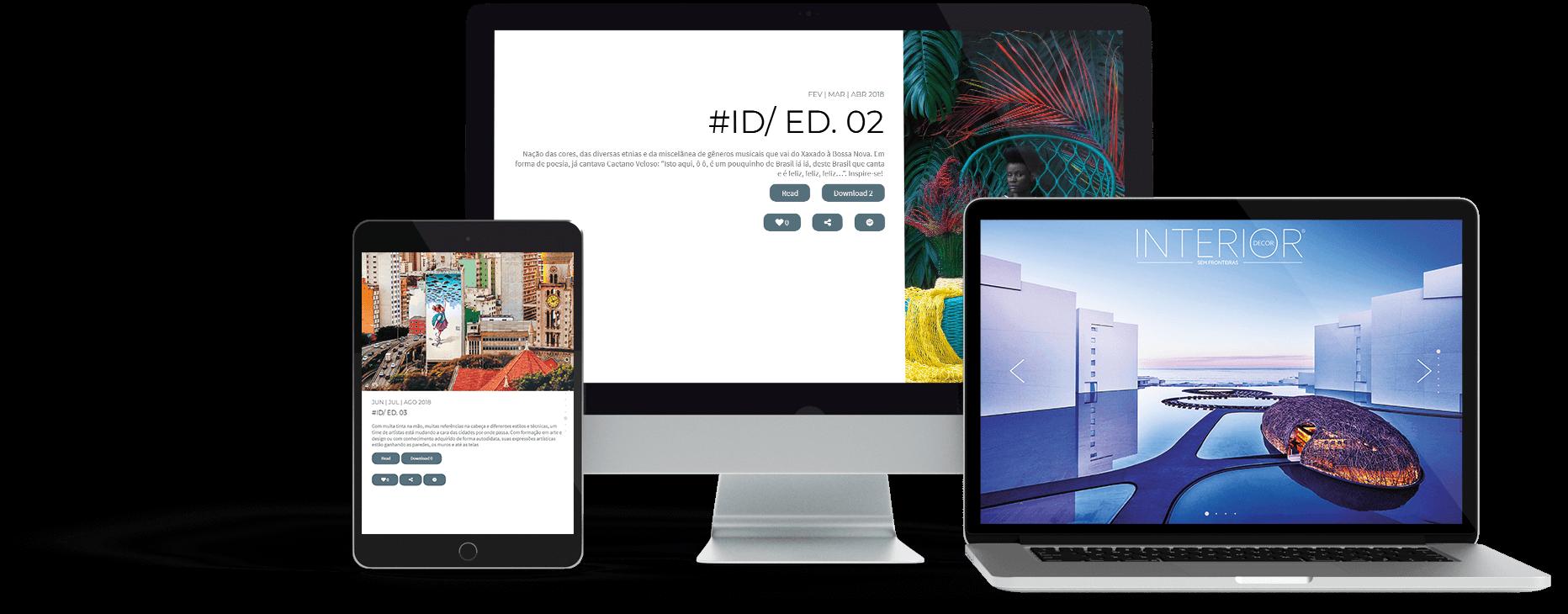 Website da empresa Interior