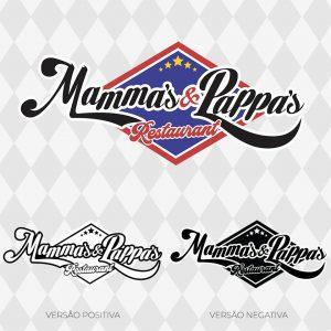 Versões do logo Mammas & Pappas